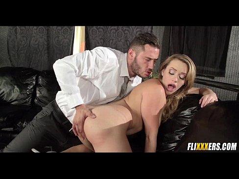 Redhead girl sucking cock