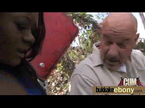 Nasty hot ebony hot interracial big bukkake 17