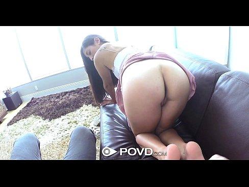 HD – POVD Busty Sofia Rivera deep throats big cock