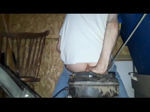 best vibrator ever!! riding dildo on running mower. (thanks kinkyskinnymilf)