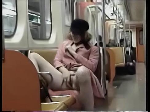Japanese masturbation on a train