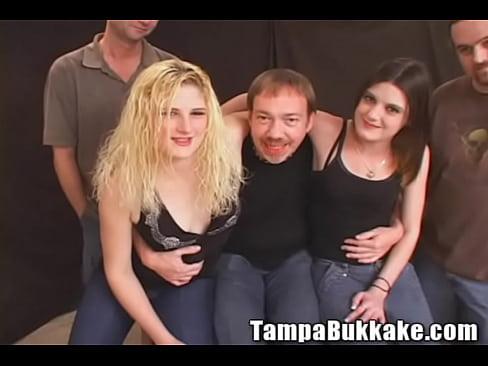 Two Girl Bukkake Tryout
