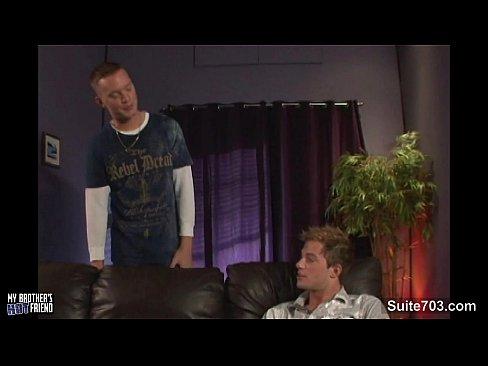 Gay sucks and rides long cock