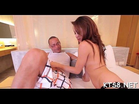 Cute ladyboy solo rubbing her hard cock