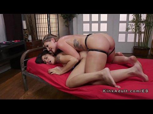 Rough Lesbian Strap Orgasm
