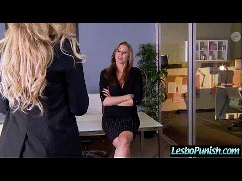 (julia & olivia) Lesbians In Punishing Sex Game Using Toys clip-24
