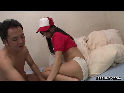 หนังโป๊Jav เต็มเรื่อง Miku Oguri is a horny pizza delivery girl – 52 sec